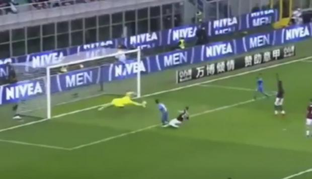Gianluigi Donnarumma rescató al AC Milan en Serie A (Captura y video: YouTube).