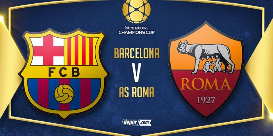 (VIDEO) Roma goleó a FC Barcelona en la International Champions Cup