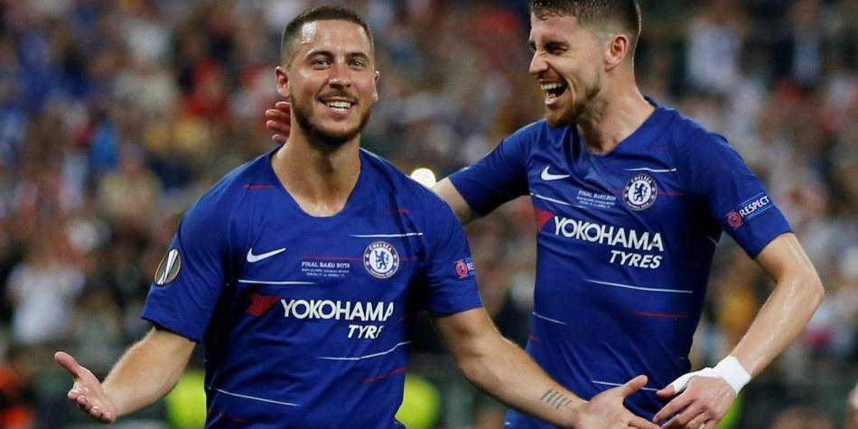 Eden Hazard marcó a los 75' el 4-1 del Chelsea vs Arsenal por la final de la Europa League 2019.