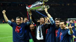 Luis Enrique ganó la Champions League con el Barcelona en 2015. (Getty)