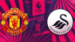 Manchester United vs Swansea chocan por la Premier League.