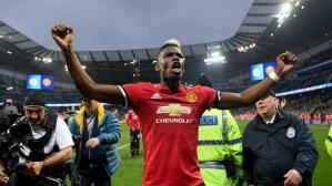 Paul Pogba anotó un doblete en la victoria sobre Manchester City (Foto: Getty Images)