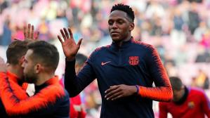 Aficionados pidieron a Yerry Mina en Barcelona (Foto: Getty Images).