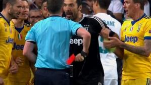 Gianluigi Buffon expulsado en el minuto final en Champions League (Captura y video: ESPN).