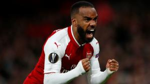 Alexandre Lacazette abrió la cuenta para Arsenal (Foto: Reuters / Video: ESPN).