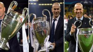 Las tres Champions League de Zidane con Real Madrid (Foto: AFP).