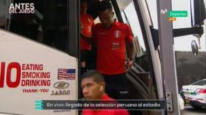 Así fue la llegada de Perú al Hard Rock Stadium (Captura y video: Movistar Deportes).
