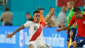 El detalle de la camiseta de Perú ante Chile. (Getty Images)