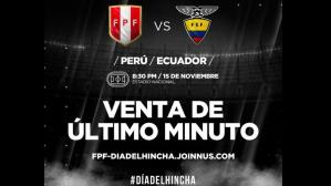 Peru vs. Ecuador: Bikolor supporters can still get tickets for the last time