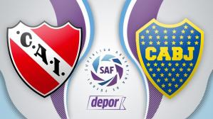 Boca Juniors vs. Independiente: chocan por la jornada 14 de la Superliga Argentina | vía TNT Sports. (Foto: Depor.com)