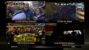 El ingreso de los hinchas de River Plate y Boca Juniors al estadio (Captura y video: FOX Sports).