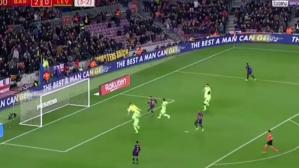 Lionel Messi anota el 3-0 del Barcelona por octavos de final de Copa del Rey. (YouTube)