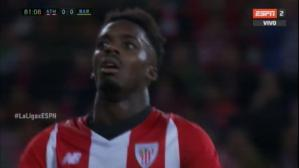 Increíble parada de Ter Stegen a Iñaki Williams para evitar gol del Athletic. (ESPN 2)