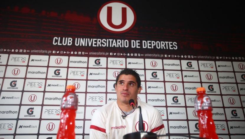 Aldo Corzo prioriza su presente en Universitario de Deportes. (Foto: @Universitario/ Video: Andrea Closa)