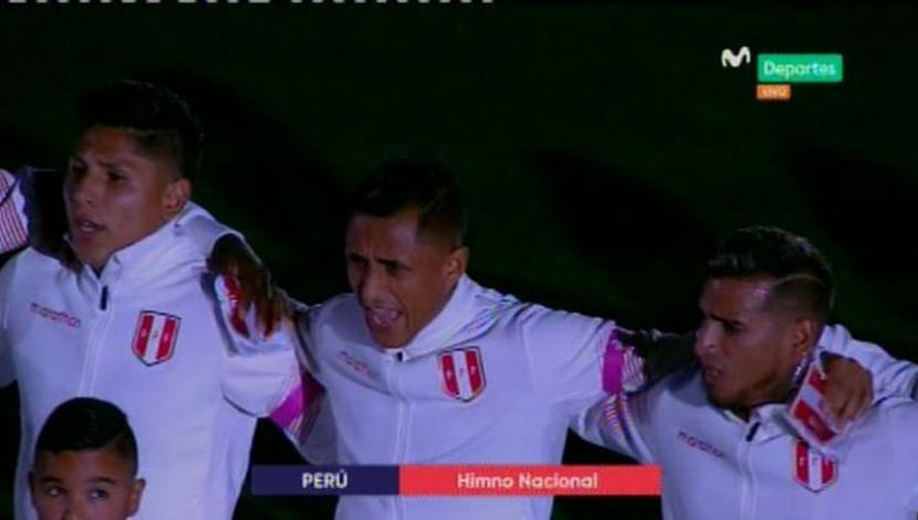 Así se cantó el himno peruano en Miami (Captura y video: Movistar Deportes).