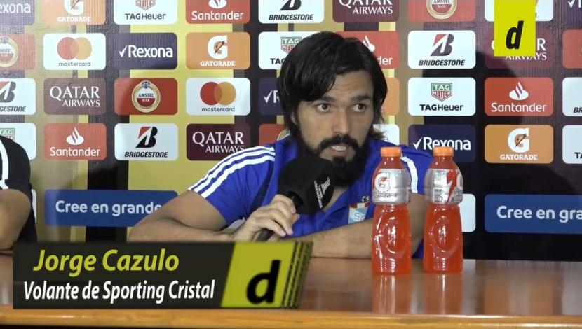Jorge Cazulo en conferencia. (Video: Depor)