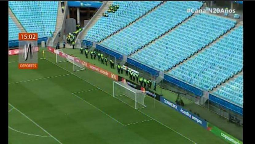 Perú vs. Chile: así luce el Arena do Gremio a pocas horas del 'Clásico del Pacífico' [VIDEO]