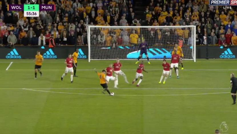 Golazo de Rubén Neves para empatar el United-Wolves por la Premier League