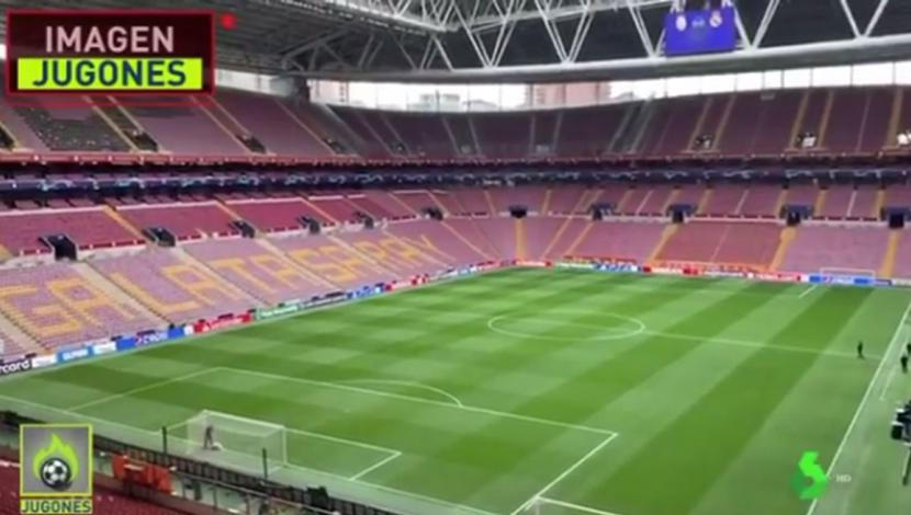Real Madrid beat Galatasaray at the stadium which helped with public speeches