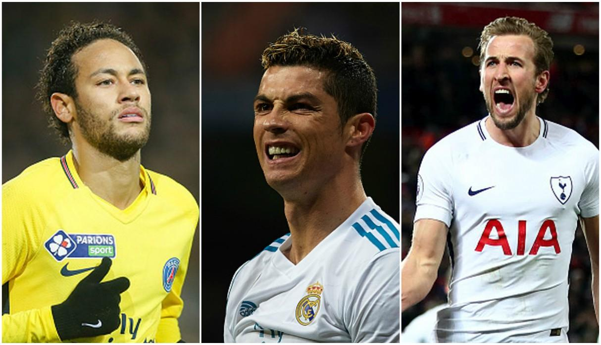 Los goleadores de la Champions League 2017/18. (Getty)