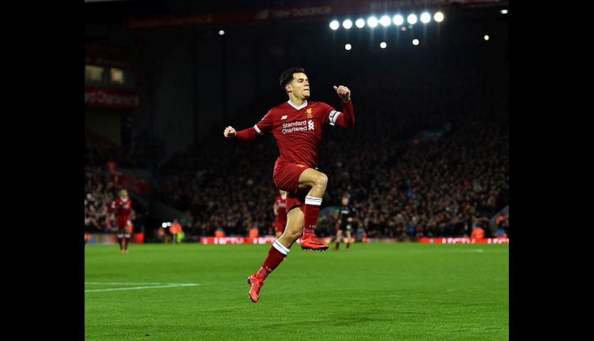 Philippe Coutinho con 5 goles (Foto: Getty Images).