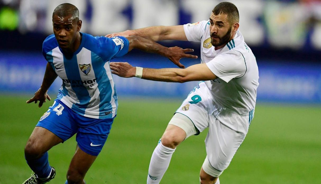 Real Madrid vs Málaga por Liga Santander.