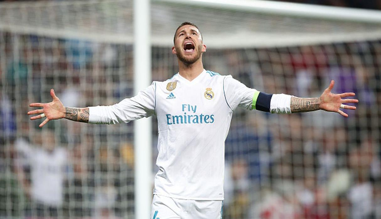 Sergio Ramos, defensa del Real Madrid, tiene un valor de mercado de 52.9 millones de euros. (Getty Images)