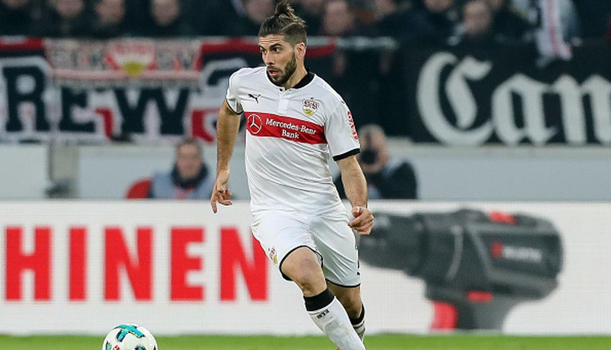 Emiliano Insúa, defensor del Stuttgart. (Getty Images)