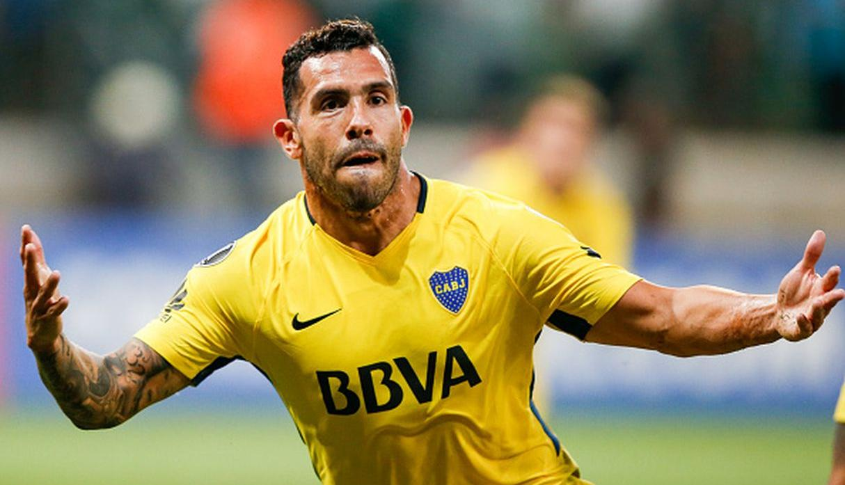 Carlos Tévez, delantero de Boca Juniors. (Getty Images)