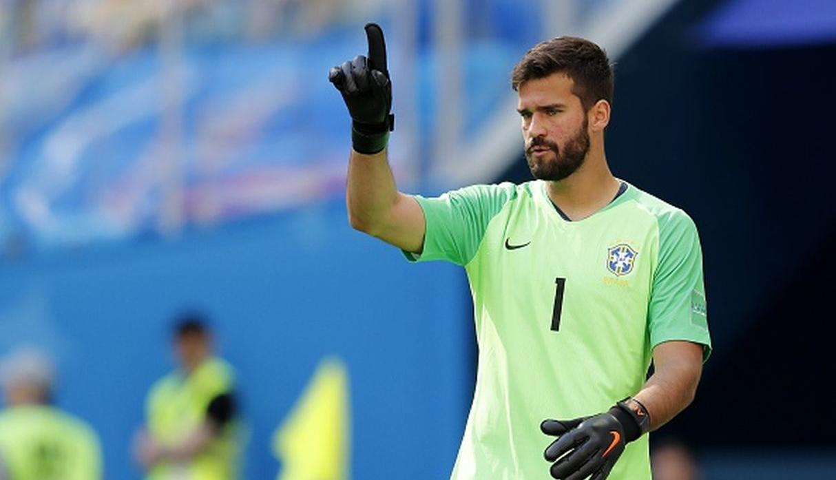 Alisson Becker disputó el Mundial Rusia 2018 con Brasil. (Getty)