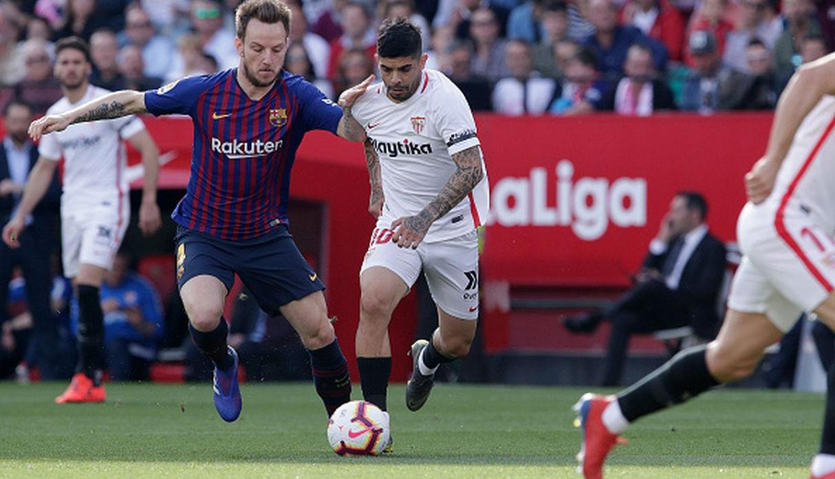Rakitic ante Sevilla. (Getty)