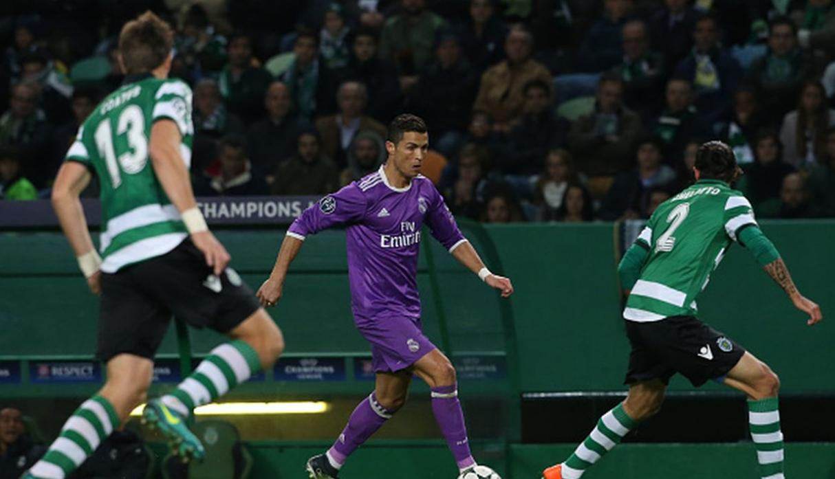 Ronaldo ante el Sporting. (Getty)