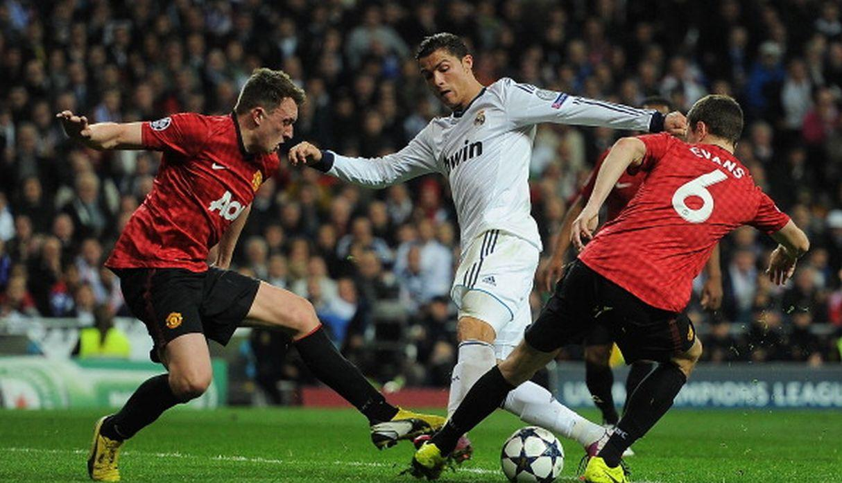 Ronaldo ante el United. (Getty)