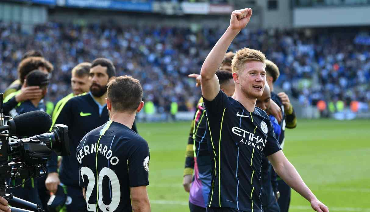 Manchester City campeón de la Premier League temporada 2017-18 (Foto: AFP)