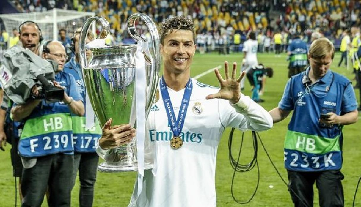 Cristiano Ronaldo logró cuatro Champions League con el Real Madrid. (Getty)