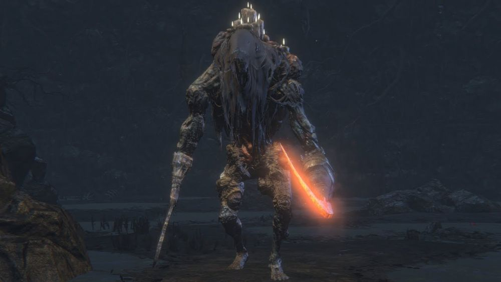 Flaming Undead Giant