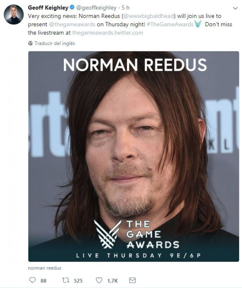 Norman Reedus The Game Awards