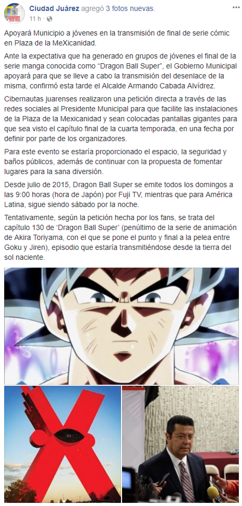 Dragon Ball Super en la Plaza de la MeXicanidad