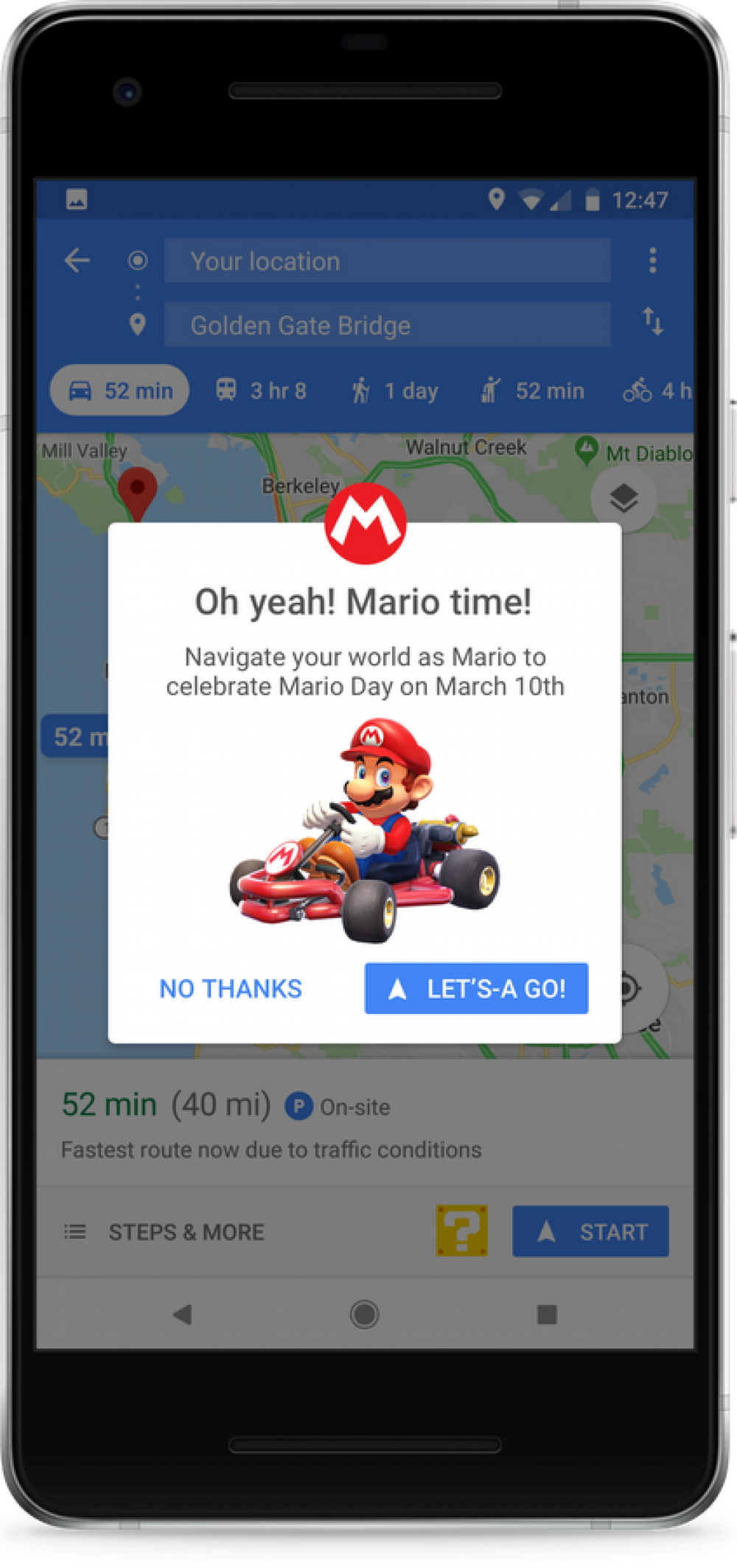 Google Maps- Mario Bros