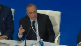 Es viral: tenso careo entre Florentino y socio del Real Madrid en Asamblea General [VIDEO]