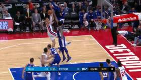 ¡Está en todas! El espectacular bloqueo de Joel Embiid en Pistons vs Philadelphia por NBA [VIDEO]
